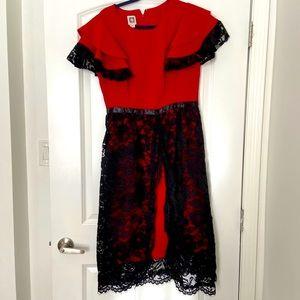 Anne Klein dress with custom added work